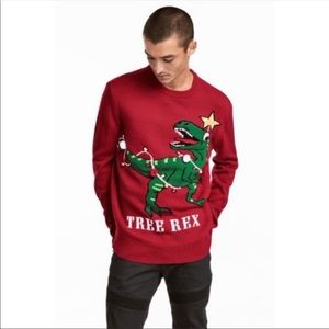 """H&M divided tree Rex """"ugly Christmas"""" sweater"""
